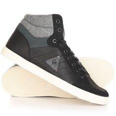 Кеды кроссовки высокие Le Coq Sportif Portalet Mid Craft Lea/Felt Black
