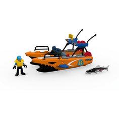 Спасательная турбо-лодка, Imaginext, Fisher Price Mattel