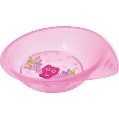 Тарелочка детская трехсекционная, Kurnosiki, розовый Курносики