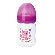 """Бутылочка с силиконовой соской """"Мои первые друзья"""", 150 мл, Kurnosiki, розовый Курносики"""
