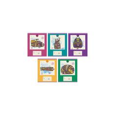 """Комплект тетрадей """"Сказочные коты"""" (10 шт), 24 листа, Канц-Эксмо"""