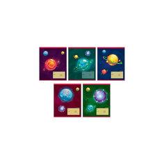 """Комплект тетрадей """"Тайны галактики"""" (10 шт), 12 листов,  Канц-Эксмо"""