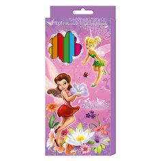 Цветные карандаши, 12 цветов, Disney Fairies Росмэн