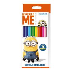 Цветные карандаши, 12 цветов, Гадкий Я Росмэн