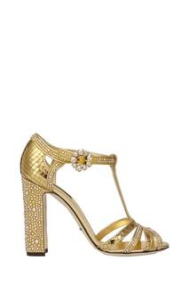 Кожаные босоножки Dolce & Gabbana