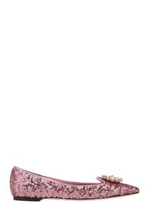Балетки с кристаллами Dolce & Gabbana