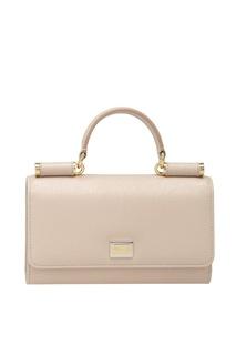 Кожаная сумка Mini Von Bag Dolce & Gabbana