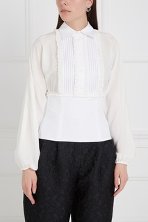 Блузка из шелка и хлопка Dolce & Gabbana