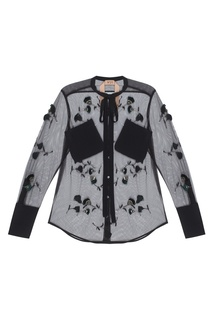 Полупрозрачная блузка со стеклярусом No.21