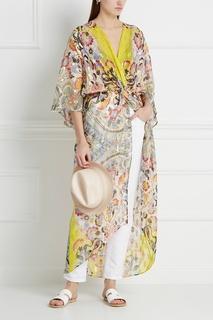 Шелковое платье с люрексом Etro