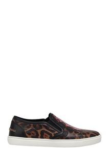 Кожаные слипоны Dolce & Gabbana