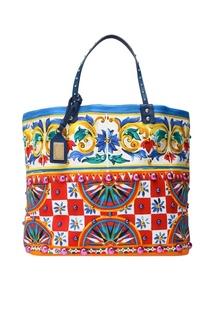 Хлопковая сумка Dolce & Gabbana