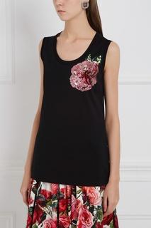 Топ с вышивкой Dolce & Gabbana