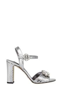Босоножки из металлизированной кожи Dolce & Gabbana