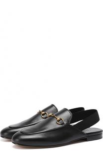 Кожаные лоферы Kings с пряжкой-трензелем Gucci
