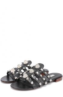 Кожаные сабо с заклепками Balenciaga