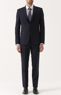 Шерстяной костюм с пиджаком на двух пуговицах Givenchy
