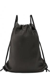 Кожаный рюкзак с внутренним карманом на молнии MCQ