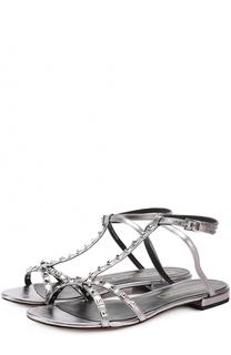 Сандалии Ana из металлизированной кожи с заклепками Marc Jacobs
