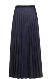 Плиссированная юбка-миди с контрастным принтом Escada Sport