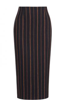 Льняная юбка-карандаш в контрастную полоску Stella Jean