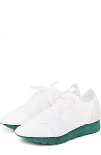 Комбинированные кроссовки на контрастной подошве Balenciaga