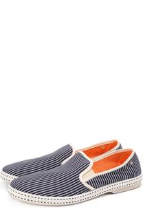 Текстильные эспадрильи в контрастную полоску Rivieras Leisure Shoes