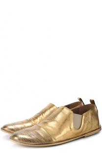 Ботинки из металлизированной кожи с эффектом состаривания Marsell