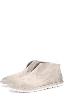 Замшевые ботинки с потертостями Marsell