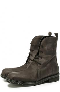 Высокие кожаные ботинки с круглым мысом Masnada