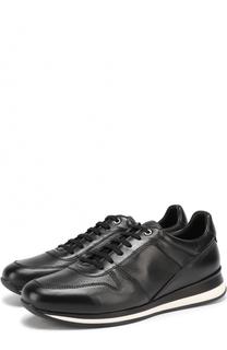 Кожаные кроссовки на шнуровке Ermenegildo Zegna
