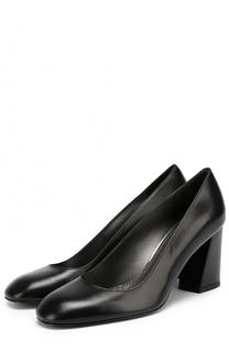 Кожаные туфли Mary на устойчивом каблуке Stuart Weitzman