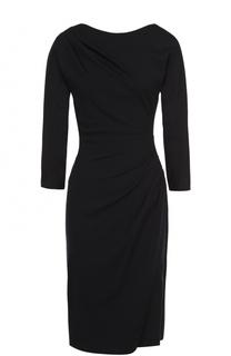 Мини-платье с драпировкой и укороченным рукавом Giorgio Armani