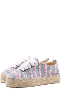 Текстильные эспадрильи на шнуровке Manebi
