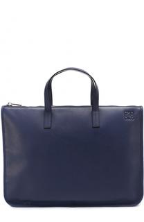Кожаный портфель на молнии Loewe
