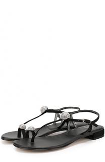 Замшевые сандалии Ballsoffire с декором Stuart Weitzman