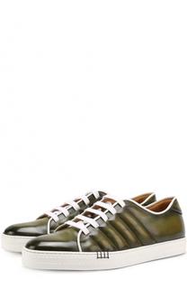 Кожаные кеды на шнуровке Berluti