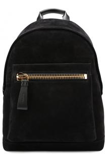 Замшевый рюкзак с внешним карманом на молнии Tom Ford