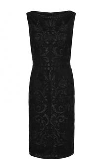 Приталенное платье-миди без рукавов с металлизированной отделкой St. John