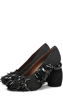 Туфли из текстиля с бахромой Dries Van Noten