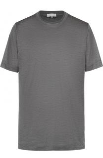 Шелковая футболка с круглым вырезом Cortigiani