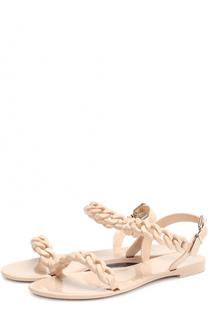 Резиновые сандалии с плетеными ремешками Givenchy