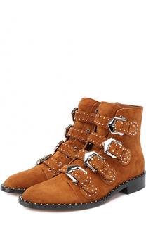 Замшевые ботинки с заклепками Givenchy
