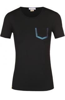 Облегающая футболка с контрастной отделкой Monreal London