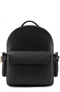 Кожаный рюкзак с тремя внешними карманами Buscemi