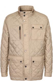 Утепленная стеганая куртка на молнии с воротником-стойкой Paul&Shark Paul&Shark