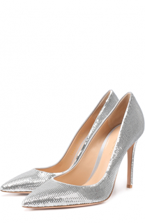 Туфли с пайетками на шпильке Gianvito Rossi