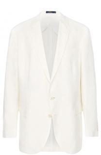 Льняной однобортный пиджак Polo Ralph Lauren