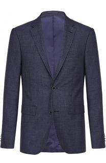 Однобортный пиджак из смеси шерсти и хлопка с шелком Sand