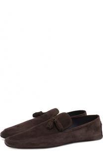 Домашние замшевые туфли A. Testoni